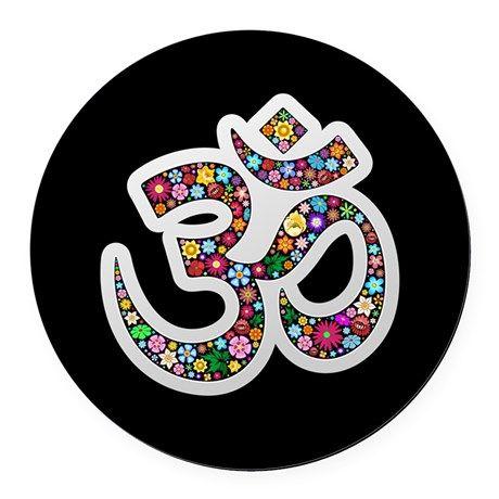 Om Aum Namaste Yoga Symbol Round Car Magnet On Cafepress