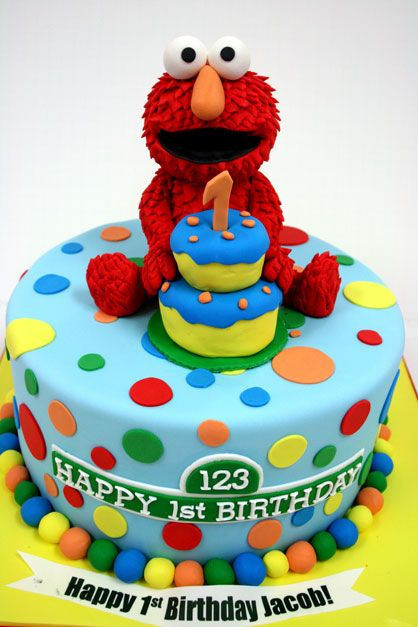 Elmo Cake Elmo Sesame Street First Birthday Party Girl