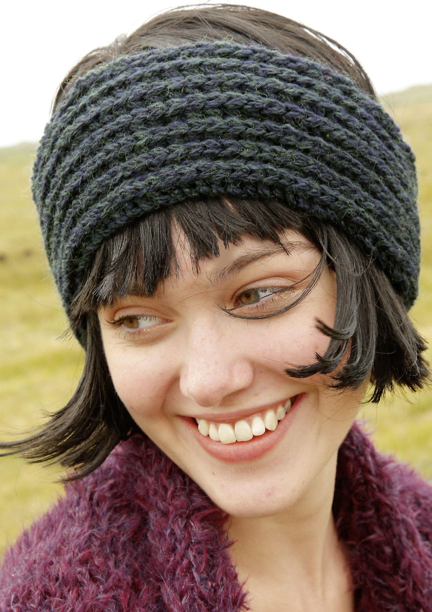 OHRENWÄRMER Knapp 10 cm breit ist das Stirnband. Es wird im ...