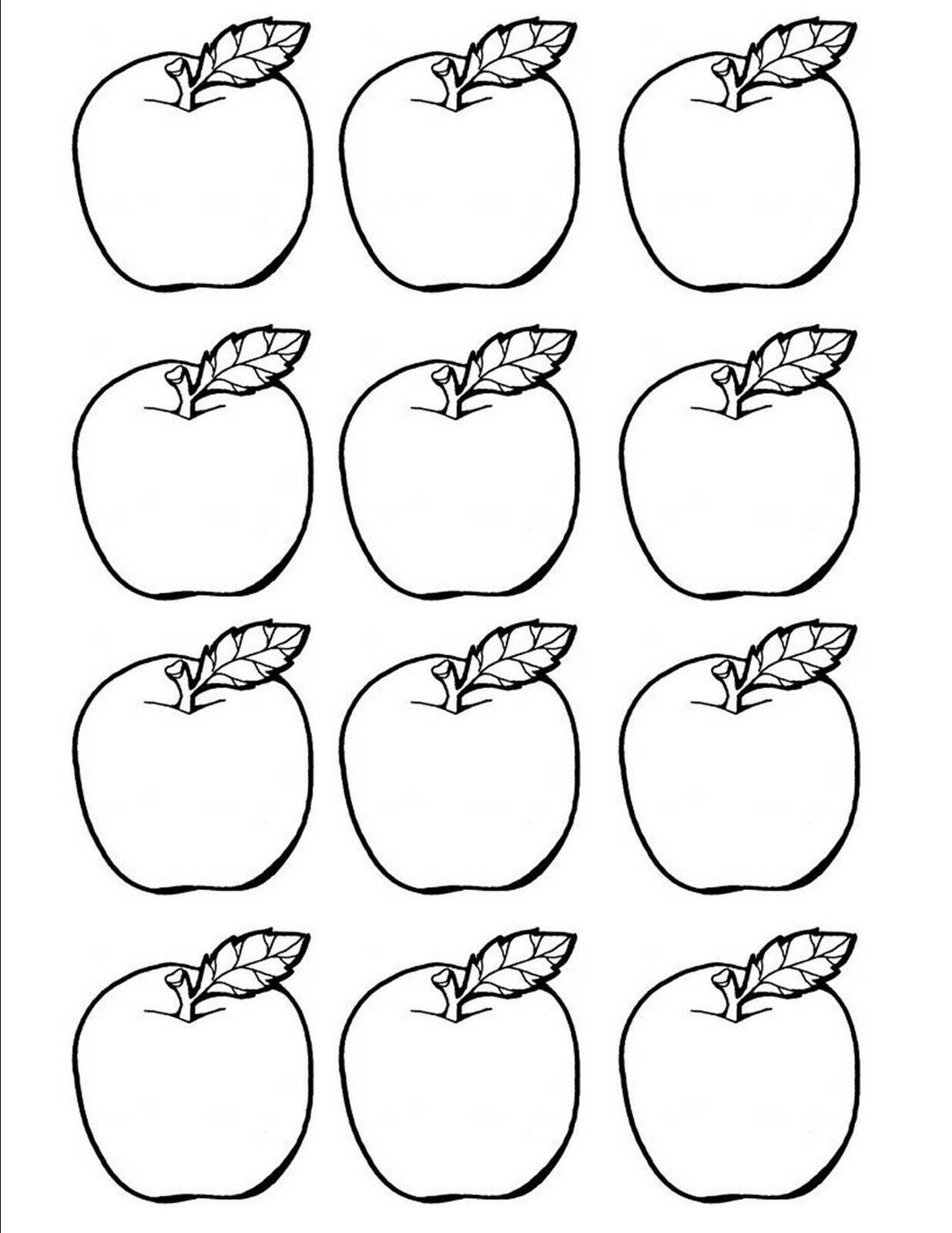 Printable Apple Cut Outs