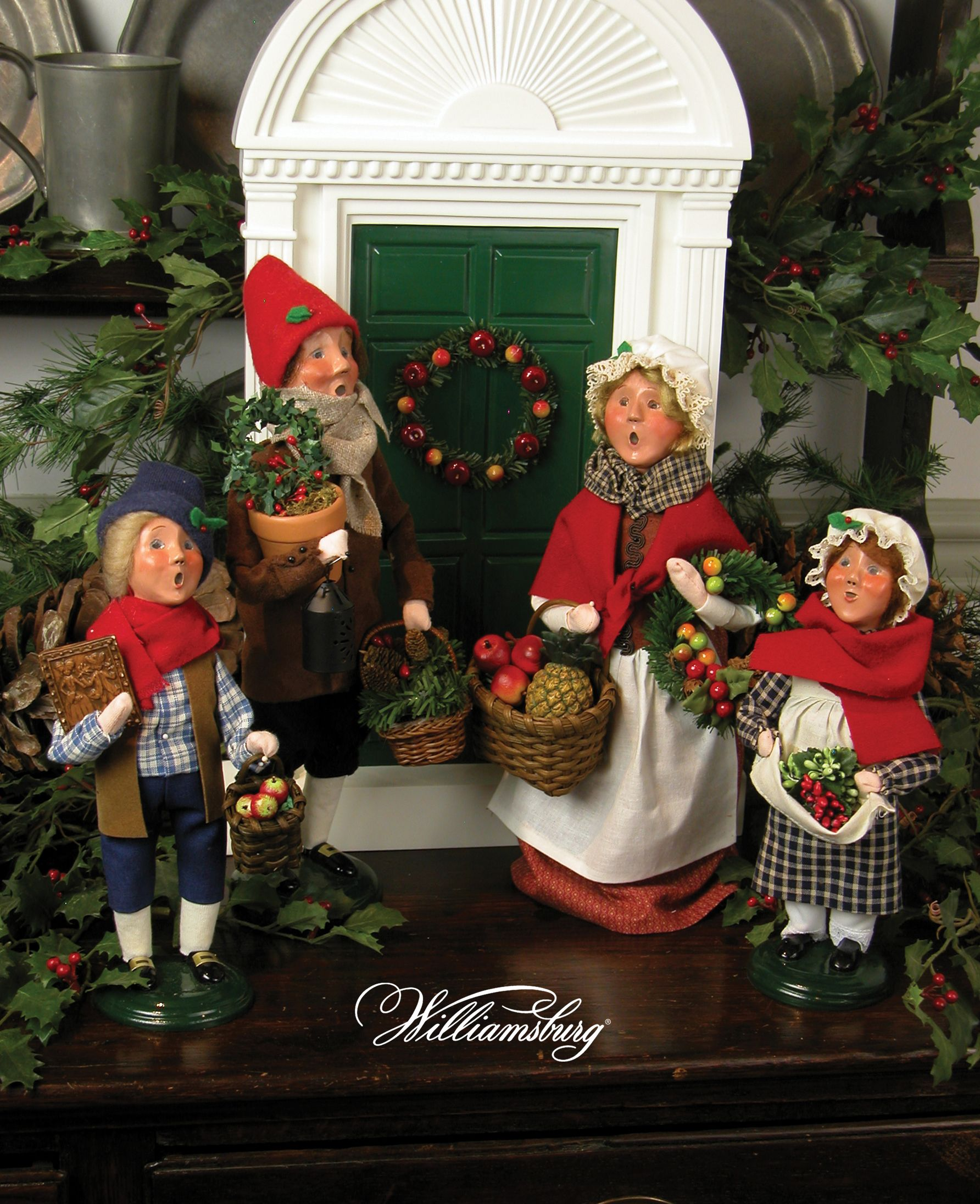 Decoration Ideas Are Christmas Carolers Decorations Needed: Colonial Shopping Family