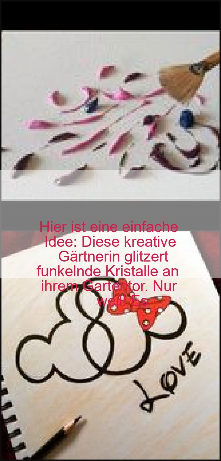 Hier ist eine einfache Idee Diese kreative Gärtnerin glitzert funkelnde Kristalle an ihrem G