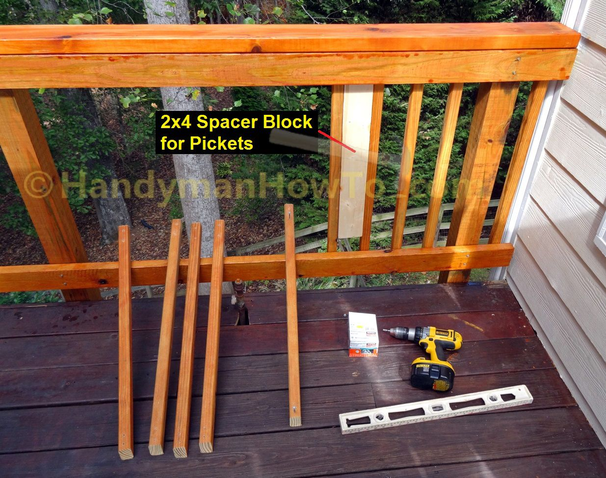 How to build code compliant deck railing part 2 cut and install how to build code compliant deck railing part 2 cut and install the 2x2 baanklon Gallery