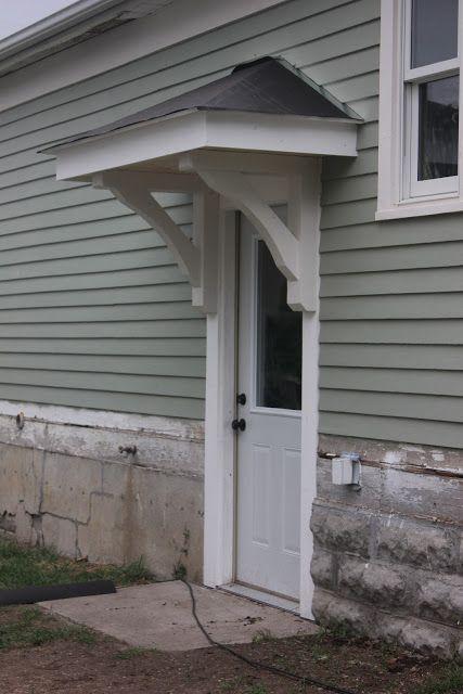 Bricks Honey Building The Back Door Overhang Porch Roof Design Garage Door Design Door Overhang