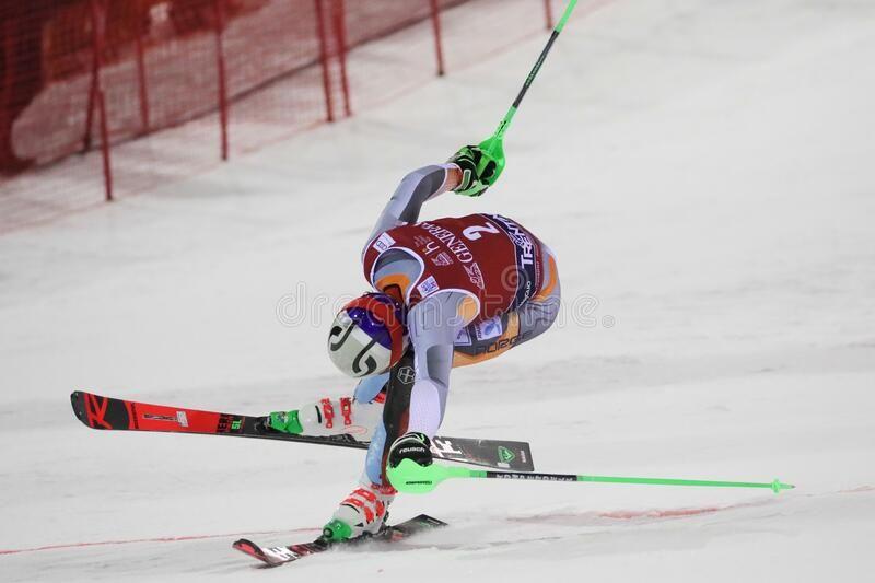 Ski FIS AUDI World Cup - Slalom Men royalty free stock photo ,