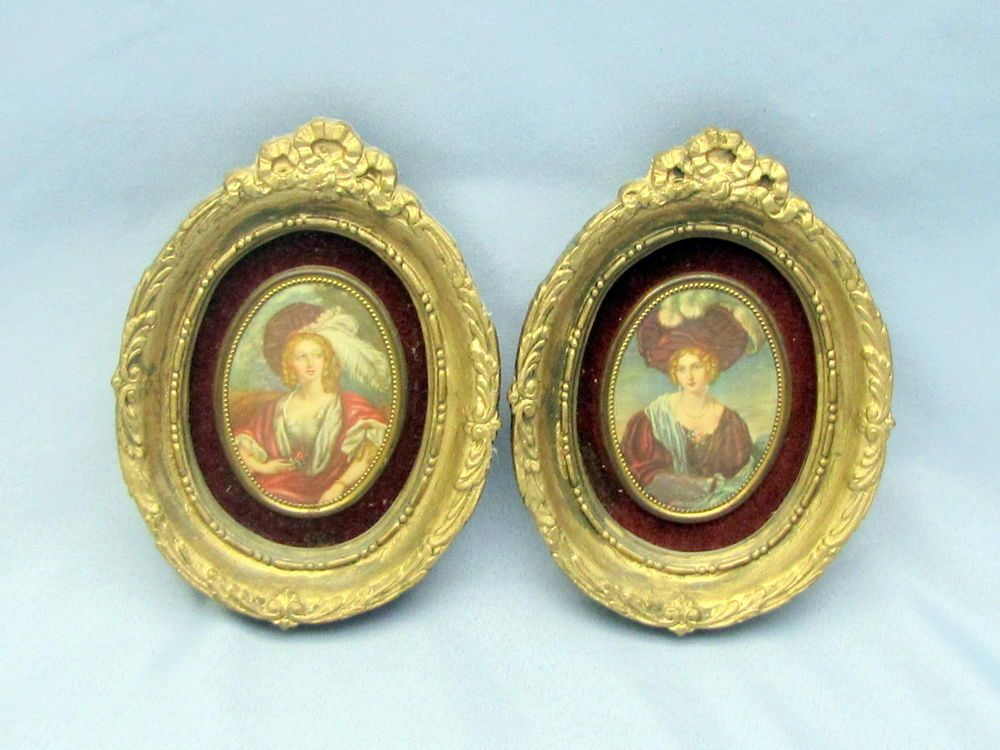 Lady Susan North & Leonora VINTAGE SET 2 CAMEO CREATION FRAMED WALL ...