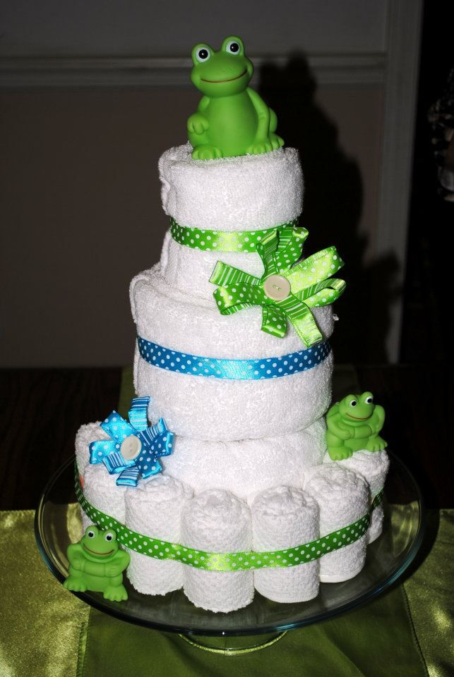 Cakes Made Out Of Towels | made this towel cake for 2 reasons: