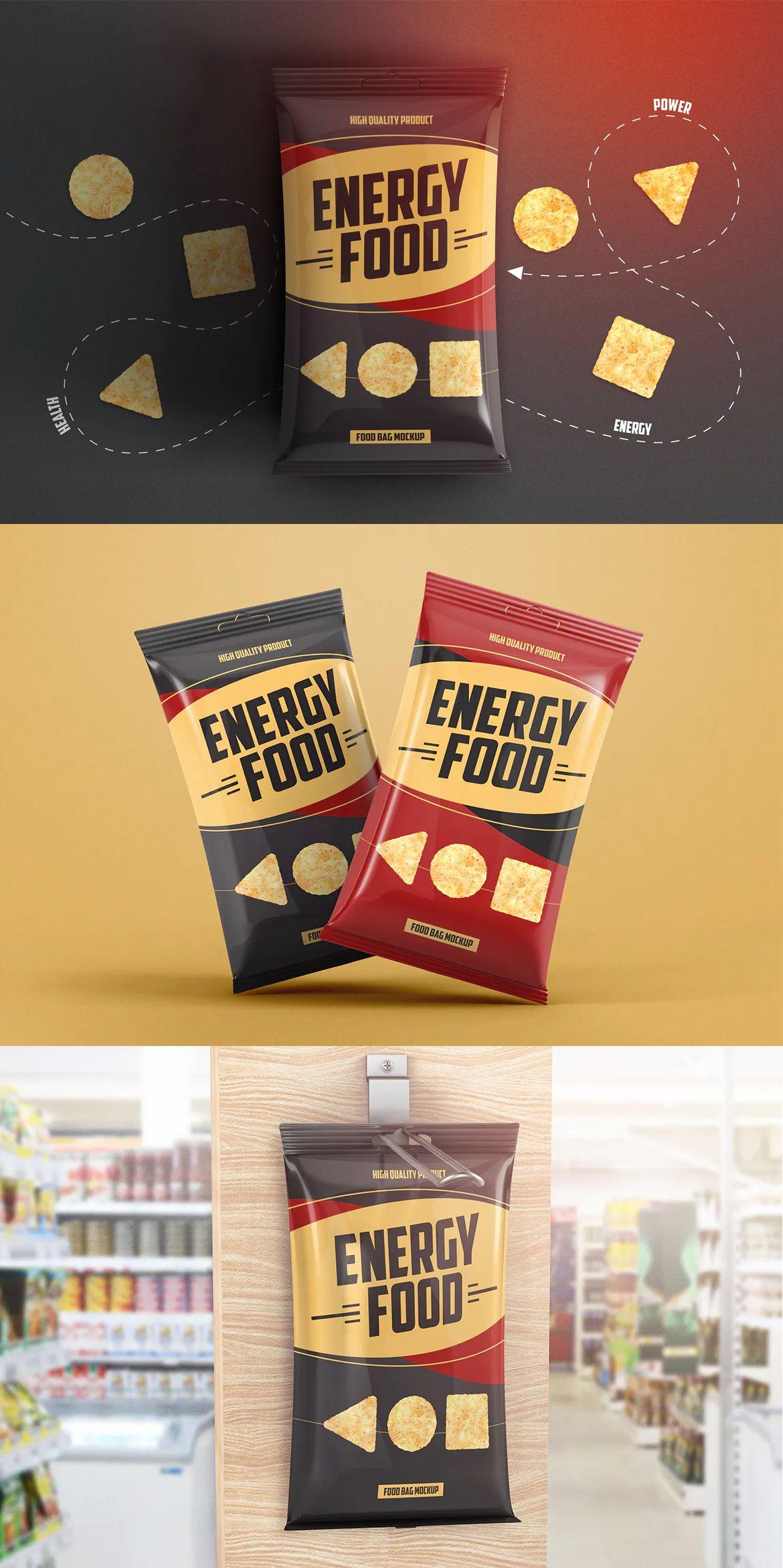 Food Bag Product Mockup Food Design Template Mockup Design