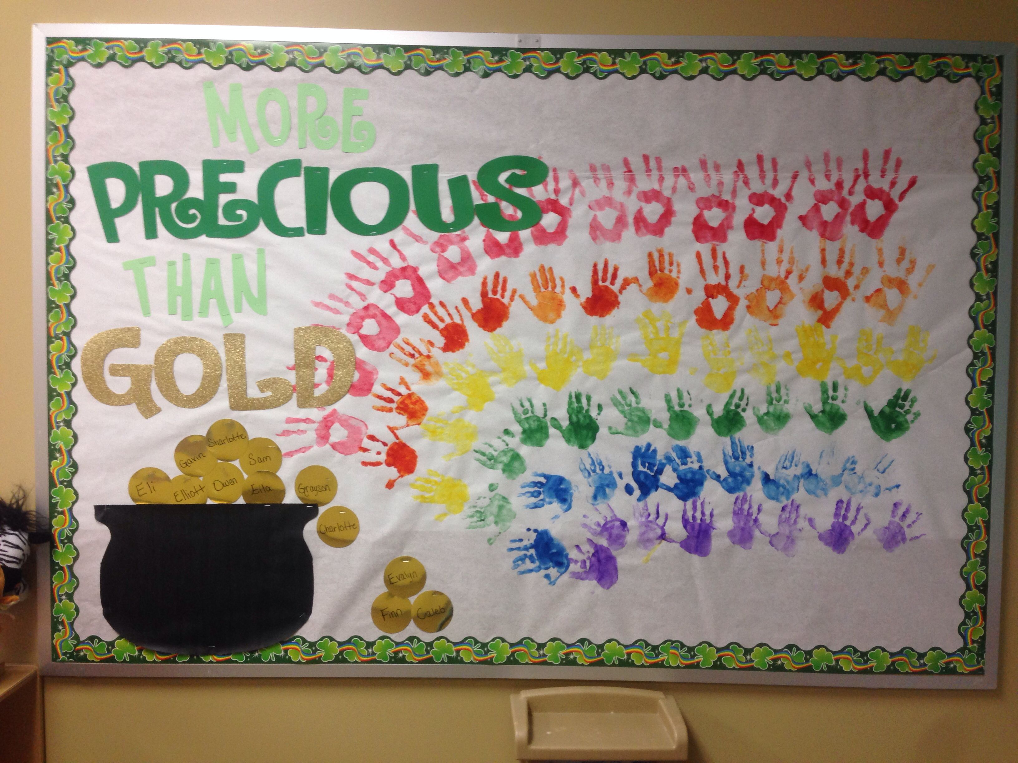 St Patrick S Day Preschool Bulletin Board