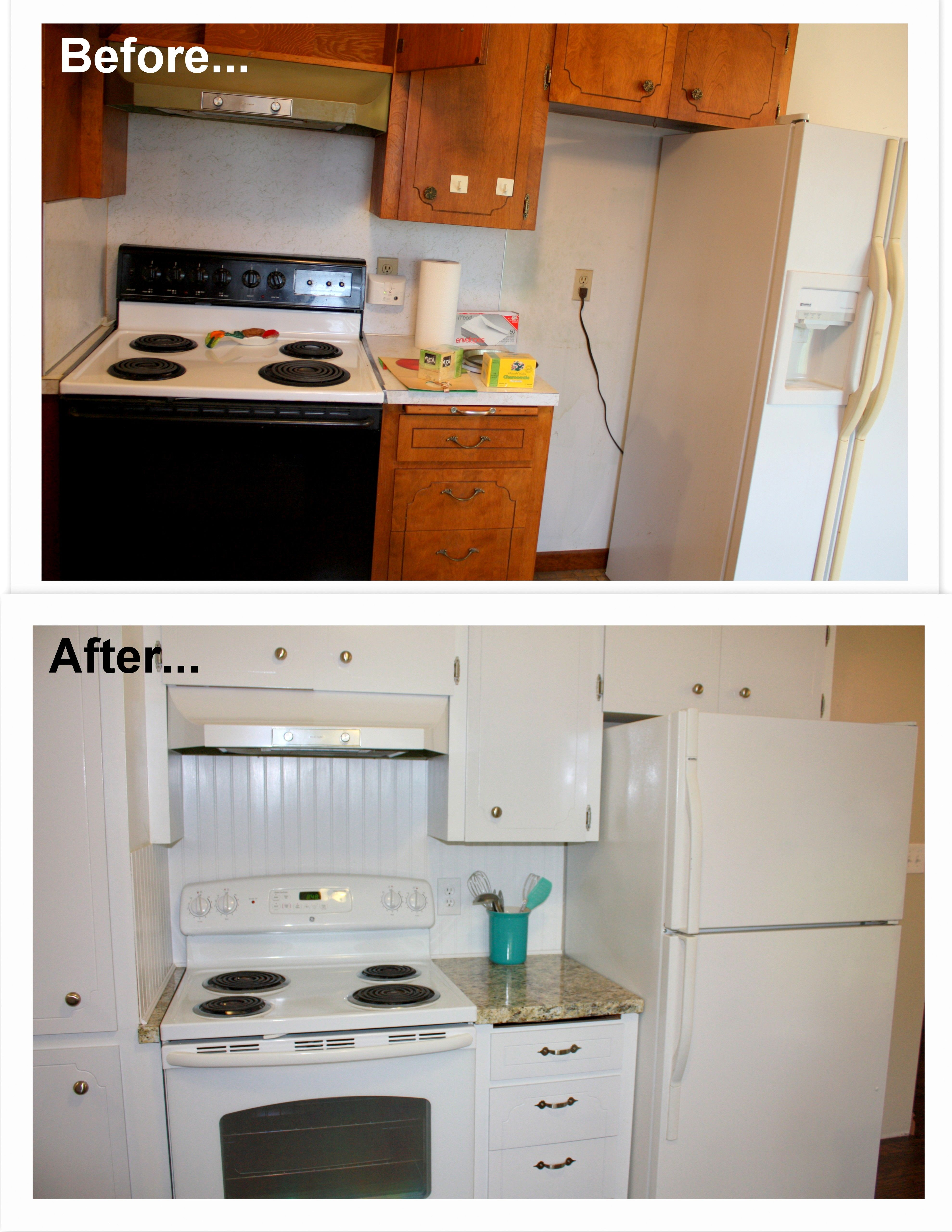 1960s Kitchen Remodel Before After: 1960's Kitchen Makeover Remodel Before And After. Hardwood