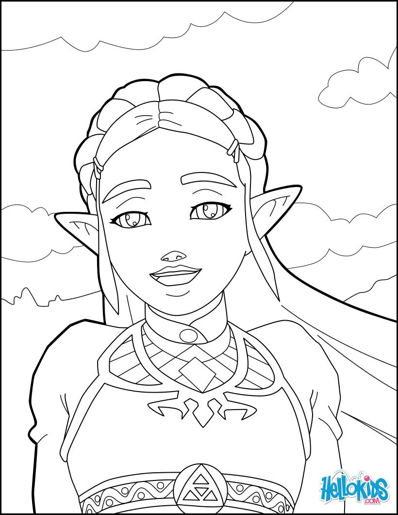 Zelda coloring page from the new Zelda games More video