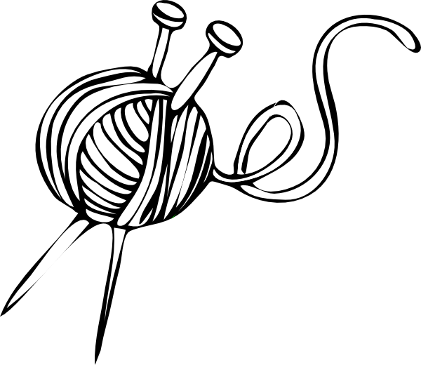Knitting Cartoons Pictures : Yarn and knitting needles clip art a river of