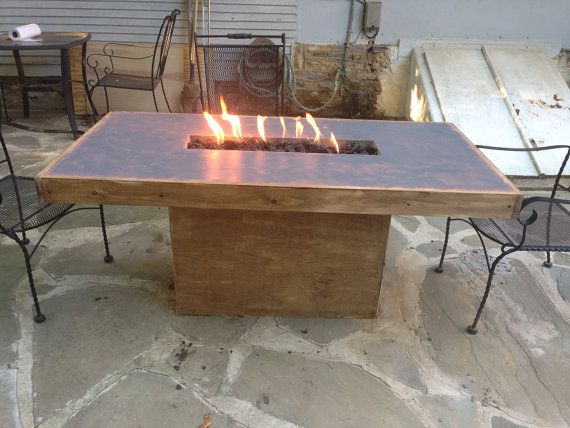 CONCRETE FIRE TABLE Fire Pit By MurrayConcreteDesign On Etsy, $500.00