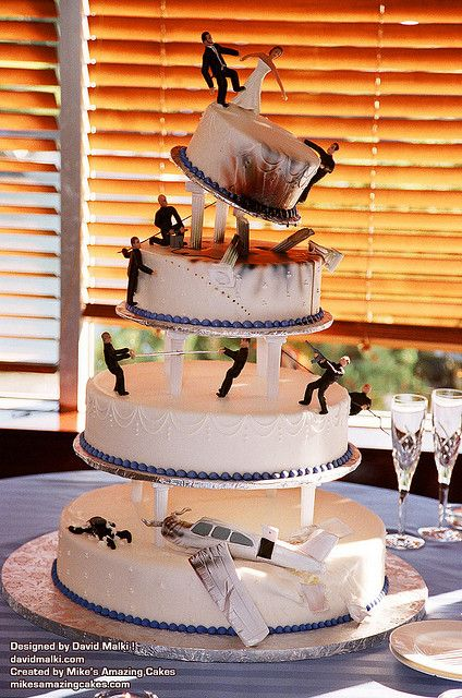 this cake was tagged as a worse cake somewhere..but it's awesome i mean look at that gravity defying top tier!