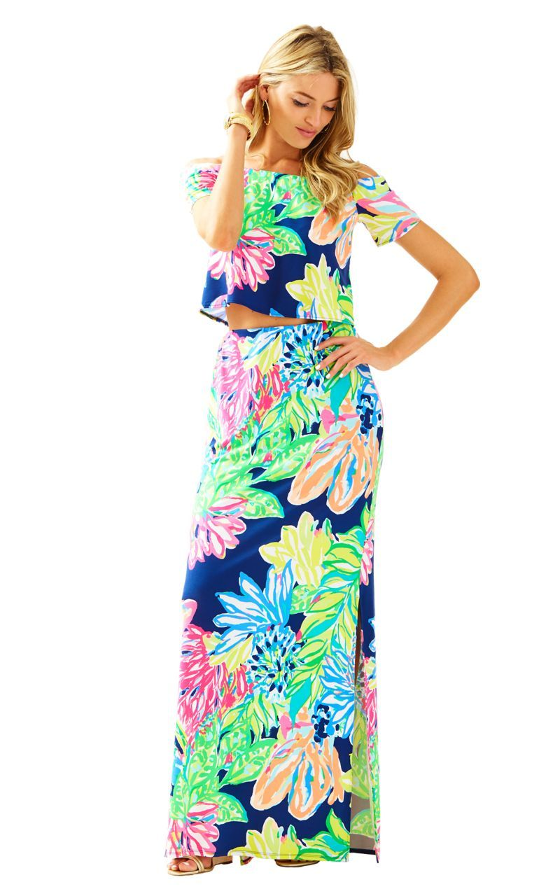 ec1960303586e8 Mansi Crop Top & Maxi Skirt Set // Lilly Pulitzer Spring & Summer two piece  set 2017