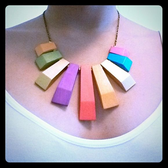 Stephen & Co Jewelry - NWT Multi-color Wooden Necklace
