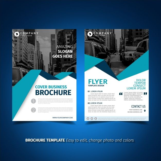 传单模板设计免费矢量 post Pinterest Business brochure and - corporate flyer template