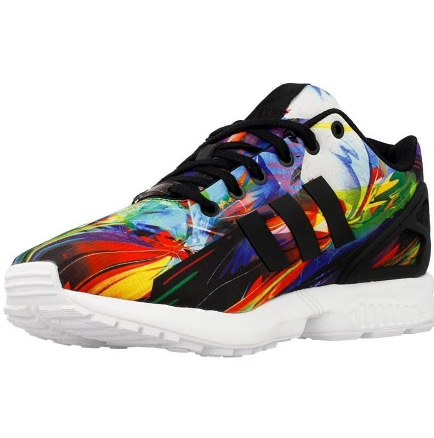1d1c3b93f0346 Mens Original Mens Adidas ZX Flux Multi Color Rainbow Men Running Shoes  AF6323