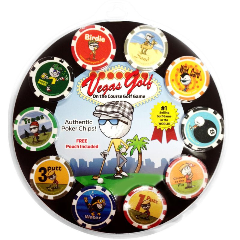 Vegas Golf Poker Chip On The Course Golf Game Poker