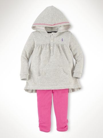 68e30d9c355992 Cotton Hoodie & Fleece Legging - Infant Girls Sets - RalphLauren.com ...