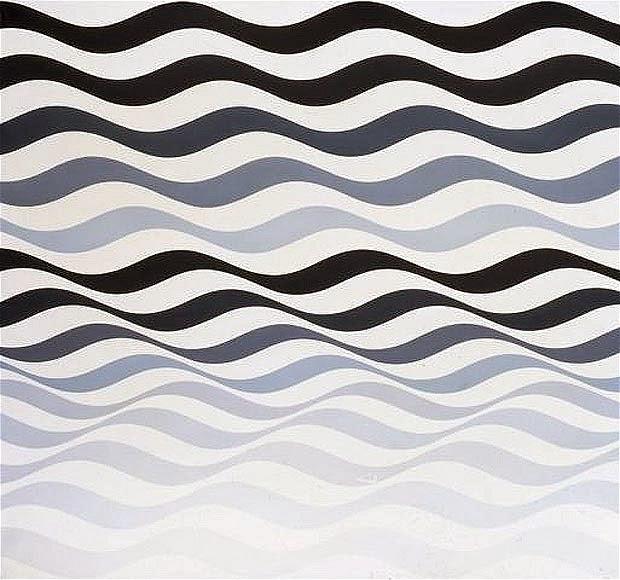 Rhythm The Design Has A Flowing Rhythm That Follows The Line Pattern Bridget Riley Op Art Bridget Riley Bridget Riley Art