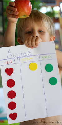 Apple graphing - hands on math for fall | Preschool ...