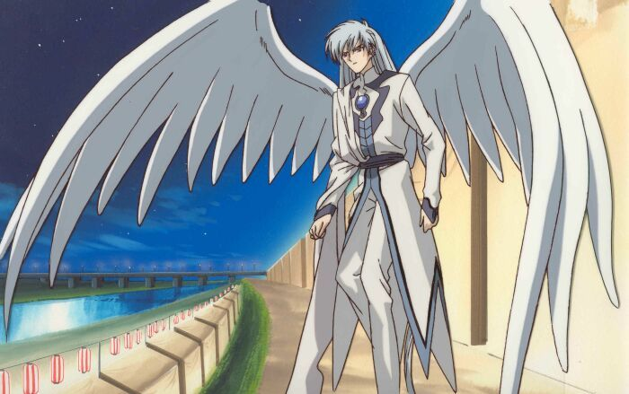 Yue's hair may technically be silver but he & Yukito definitely are white haired anime boys to me. Besides, wings. And a great outfit.