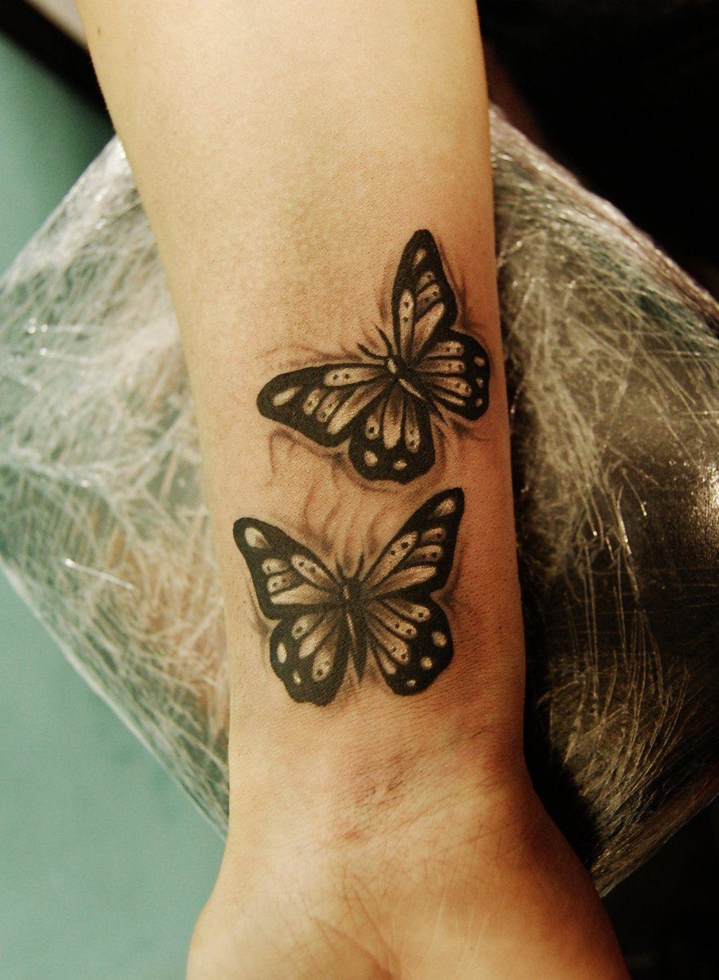 wrist butterflies by on