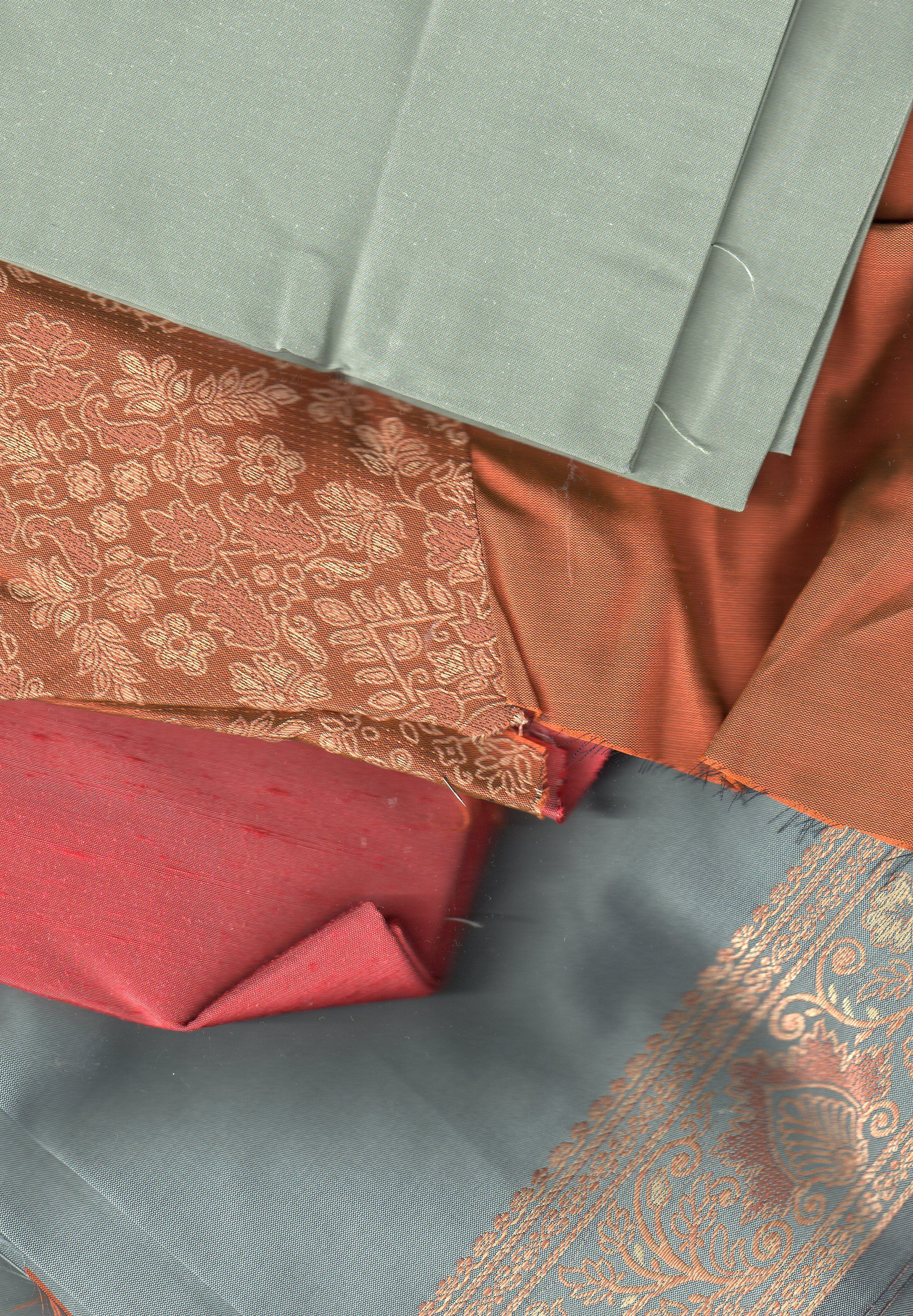BIN REMAKES Silk sari, Jaipor, cut with matching Thai and Dupion silks