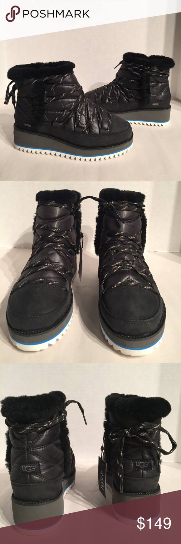 68cdc382601 Ugg Women's Cayden Puff Black Mini Boots New without box Buyers are ...