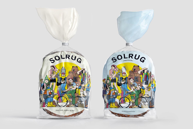 스칸디나비아 디자인 스튜디오 Bielke 및 양에 의해 호밀 빵 Solrug을위한 브랜딩 및 포장