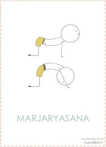 Marjaryasana - respiração do gato