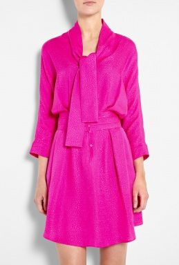 Cobra Effect Silk Jacquard Shirt Dress by See by Chloe via @Kristyn Fitzgerald Tomlinson