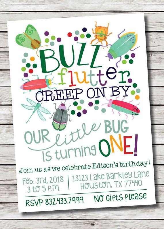 Customizable Bug Birthday Invitation