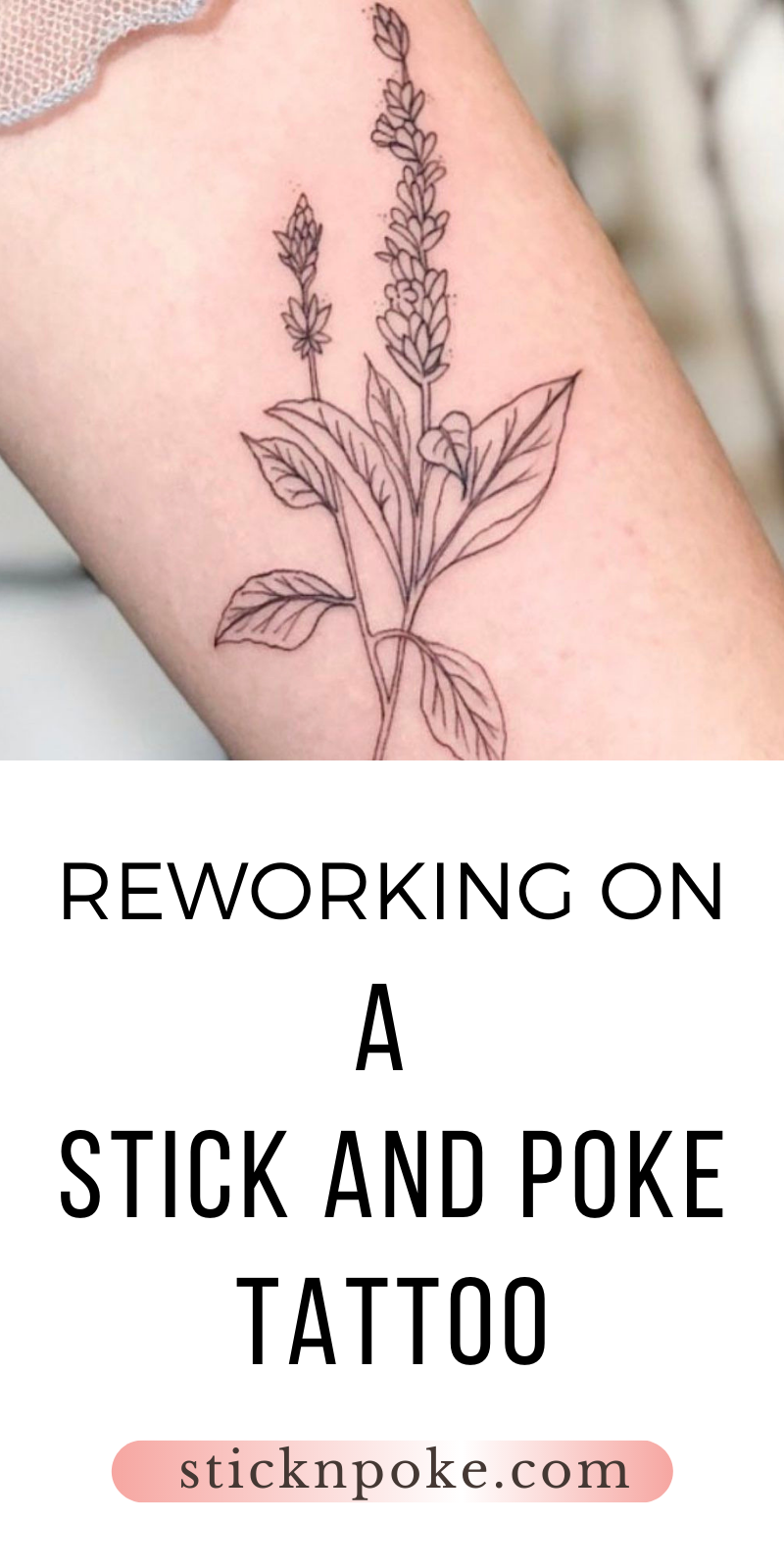 Photo of Reworking on a Stick and Poke Tattoo