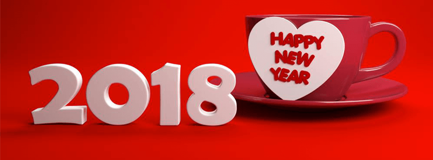 love new year 2018 facebook cover