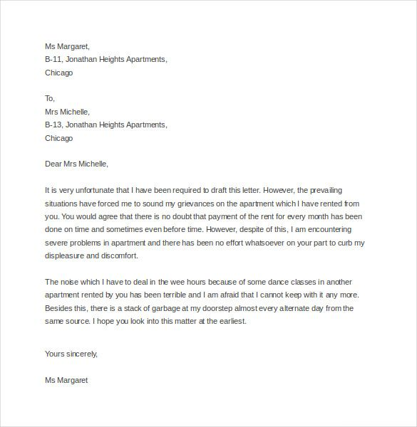 Complaint letter samples best 25 sample of resignation letter 9 tenant complaint letter templates u2013 free sample example complaint letter samples spiritdancerdesigns Image collections