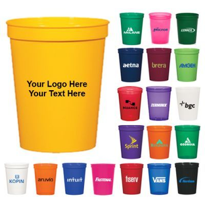 Custom Printed 16 Oz Polyproplylene Stadium Cups Prints Polypropylene Plastic