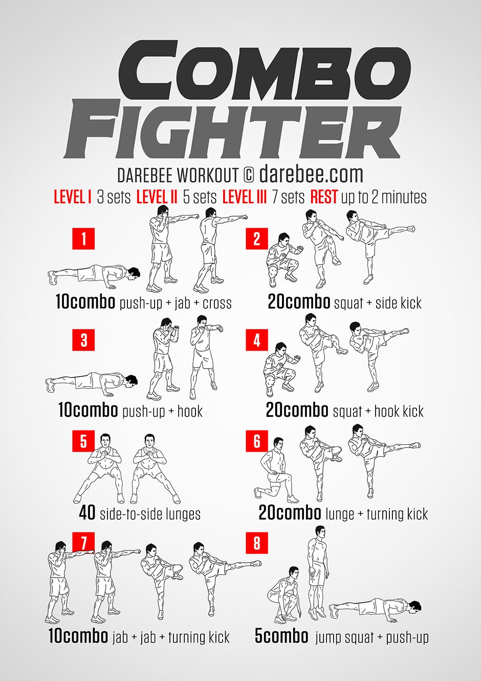 Combo Fighter Workout Fighter Workout Kickboxing Workout Martial Arts Workout