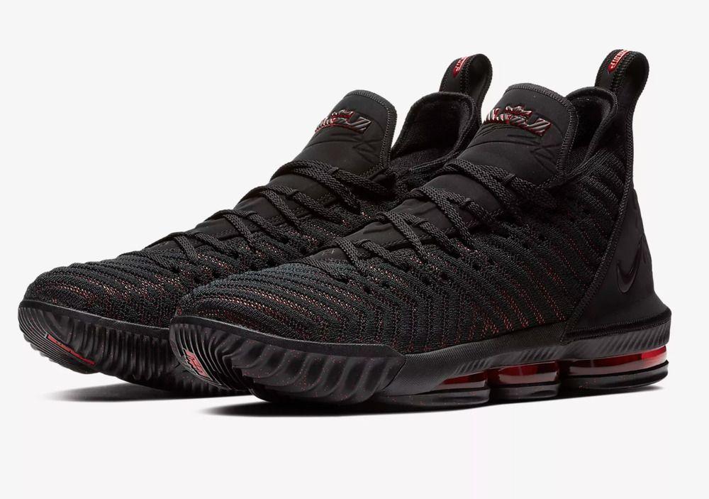check out dfe8b 5ce7b fashion Nike LeBron 16 XVI # AO2588 002 Black University Red ...