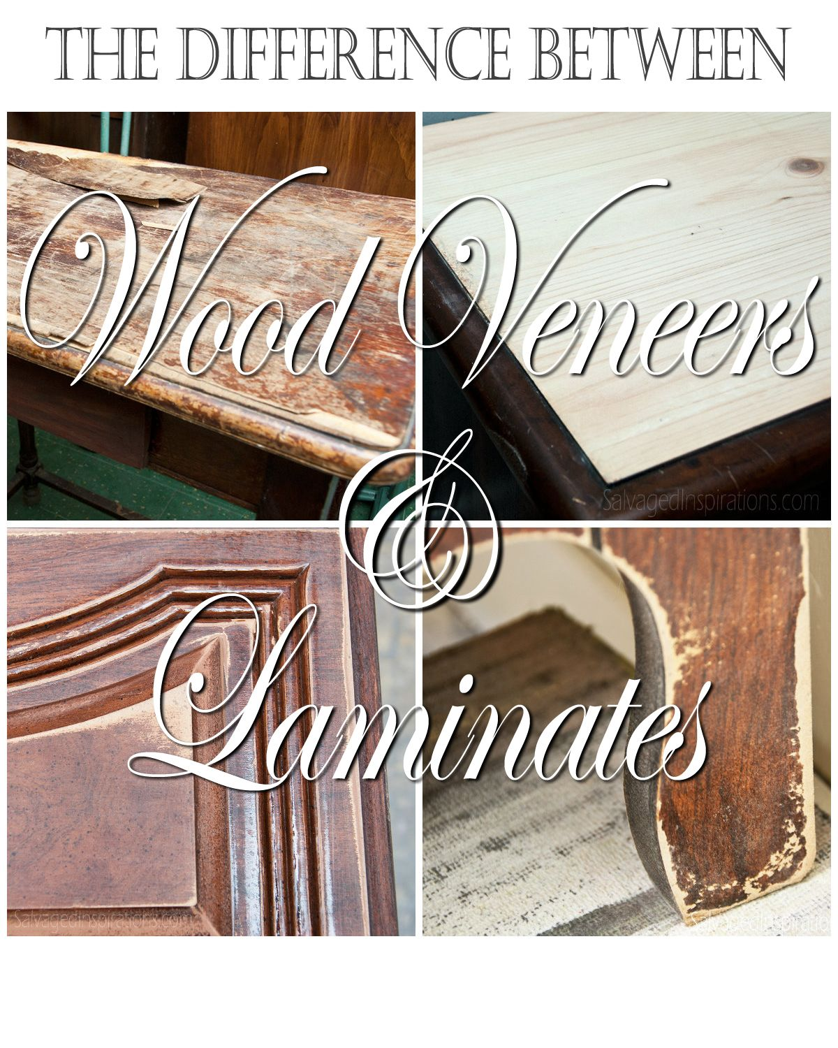 Quick Tip Tuesday The Difference Between Veneer Laminate Furniture Laminate Furniture Refinishing Laminate Furniture Painting Veneer Furniture