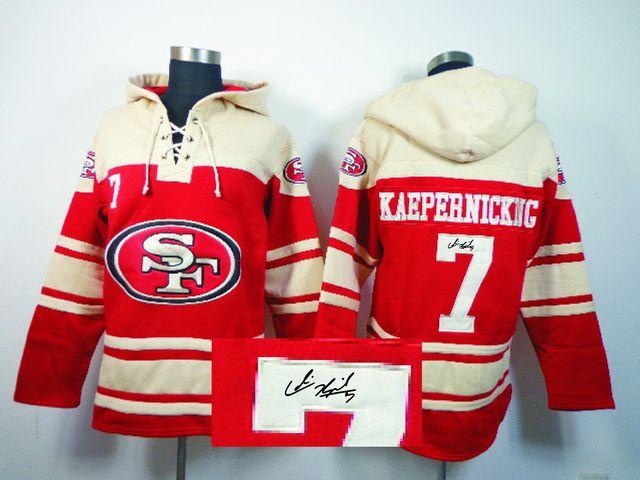 Old Time NFL Jersey Team Hoodie NFL San Francisco 49ers ...