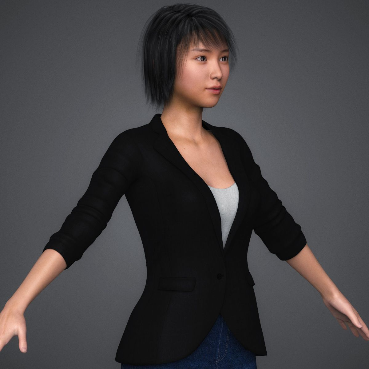 Realistic Sexy Teen Girl 3D Model   FlatPyramid