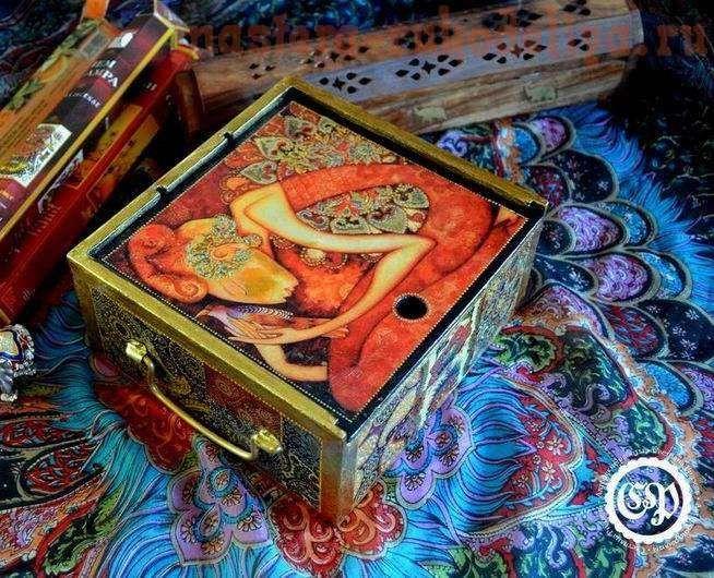 Мастер-класс по декупажу: Восточная шкатулка из коробки для чая