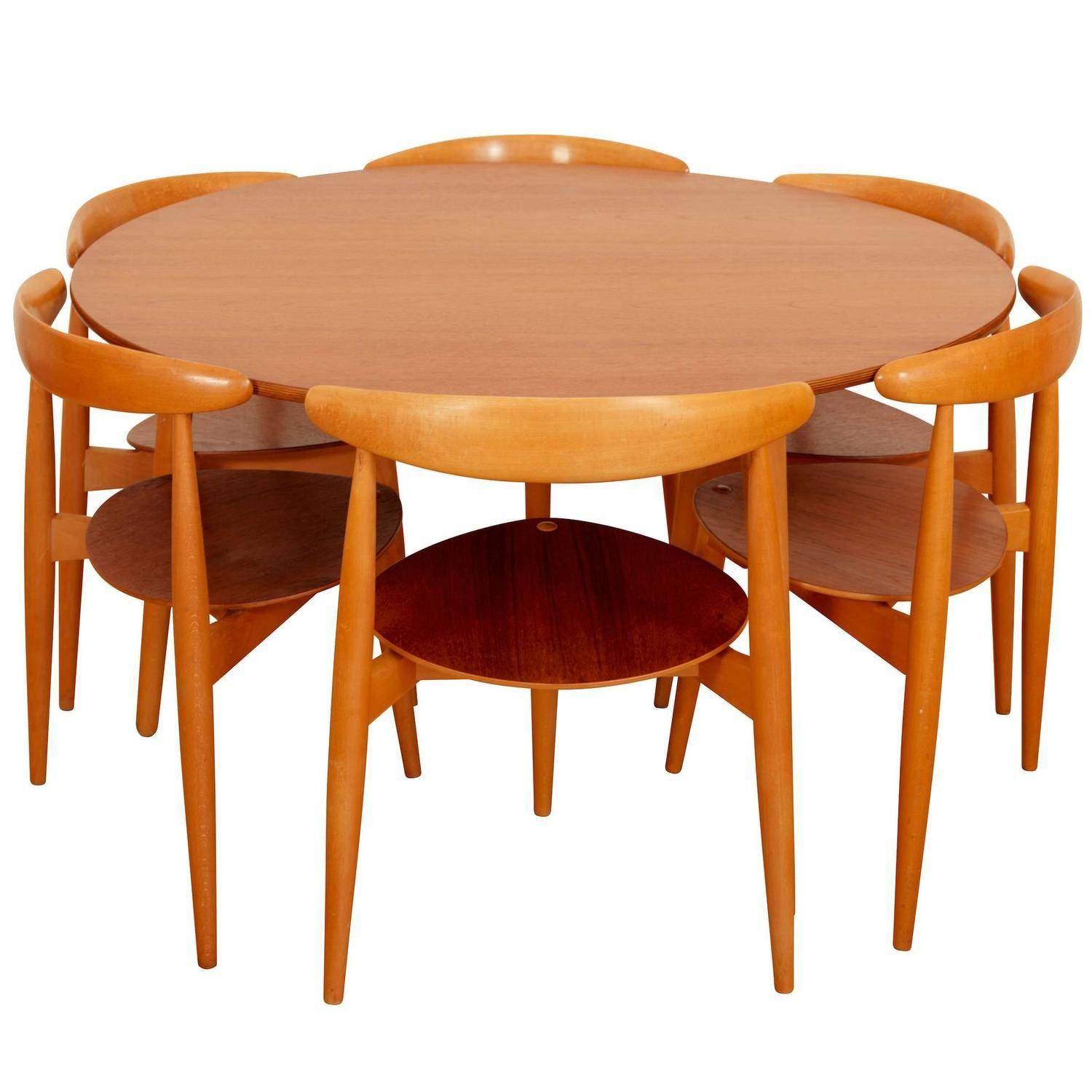 Teak Barrel Table With Nesting Chairs At West End Barrel
