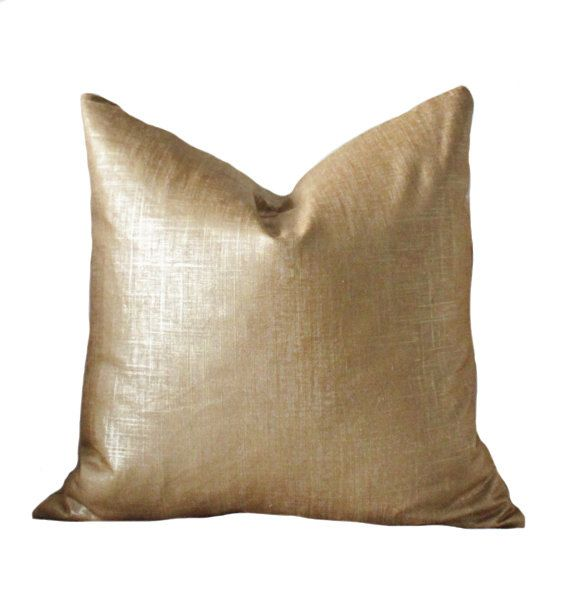 Bronze Gold Pillow Metallic Pillow Cover Throw Pillow Cover Linen Gold Neutral Pillow Motif Pillows Metallic Pillow Gold Throw Pillows Gold Pillows