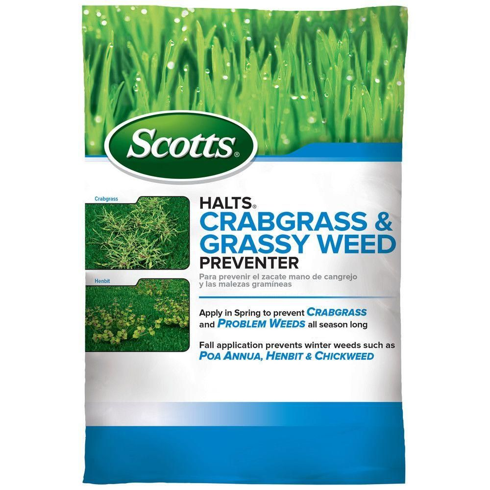 The one Scott's product to use....preemergent weeds. Says grassy weed but also does broadleaf winter weeds. Make sure getting this, NOT fertilizer. PREEMERGENT critical to get at right time because if you wait too long, once the weeds are there, it's too late. Don't get on gardens, trees etc.! Times for DFW: Add this Feb 20-March 1 for crabgrass etc. and then again May 25-June 1. Winter weed prevention....use this again Sept 1-7.  Scotts Halts 11 lb. Crabgrass Preventer-49900APM - The Home…