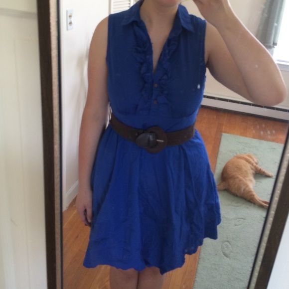 Blue summer dress This would be adorable with a pair of cowboy boots at a concert or to just wear out with friends. I bought this on Poshmark but being very tall it's too short for me so I never wore it. Charlotte Russe Dresses