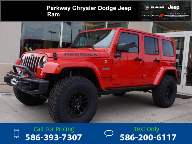 2016 Jeep Wrangler Unlimited Rubicon Red Rock Parkway Chrysler