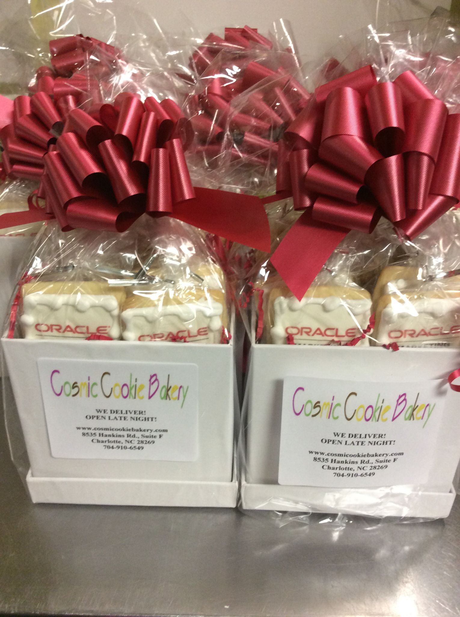 Oracle logo gift baskets. | Cookie baskets. | Pinterest